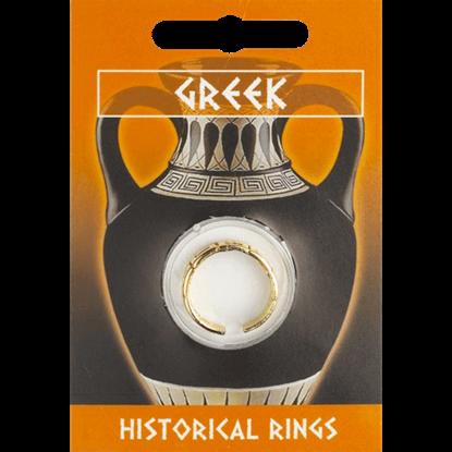 Gold Plated Greek Key Design Ring