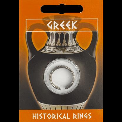 Pewter Greek Key Design Ring