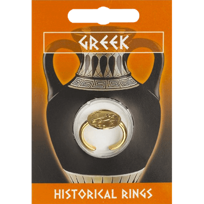 Gold Plated Greek Owl Coin Ring