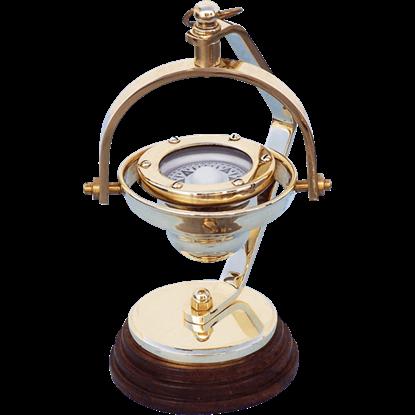 Brass Hanging Compass