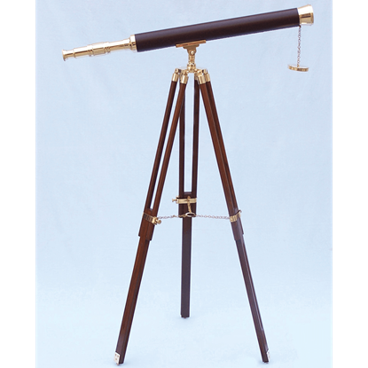 Brass and Leather Harbor Master Telescope
