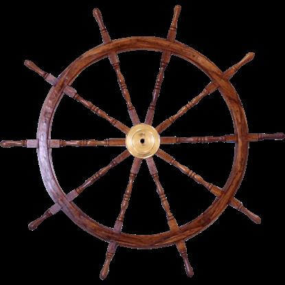 Wooden 36-Inch Ship Wheel