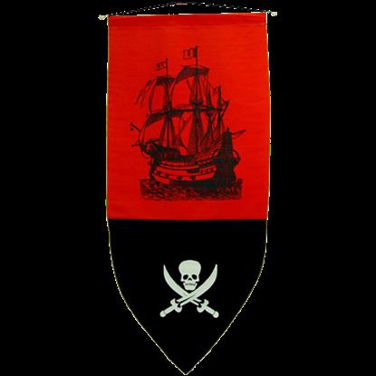 Pirate Banner Creepy Skull