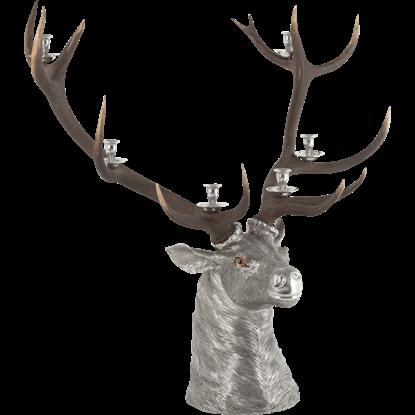 6 Taper Elk Head Candelabrum