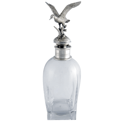 Flying Duck Pewter Top Short Decanter