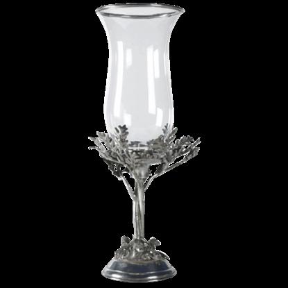 Acorn and Oak Leaf Hurricane Candle Lamp