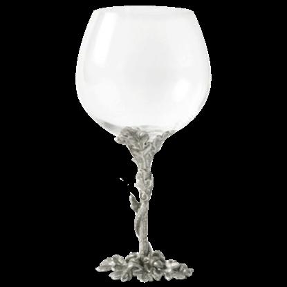 Acorn and Oak Leaf Burgundy Glass