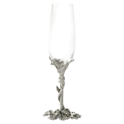 Acorn and Oak Leaf Champagne Flute