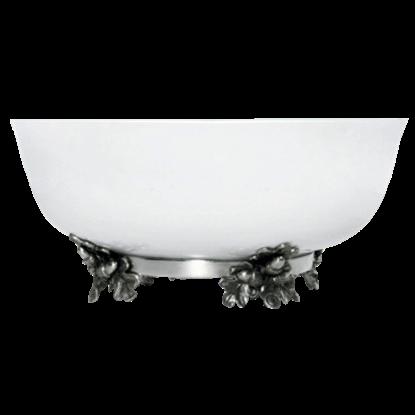 Acorn and Oak Leaf Stoneware Bowl