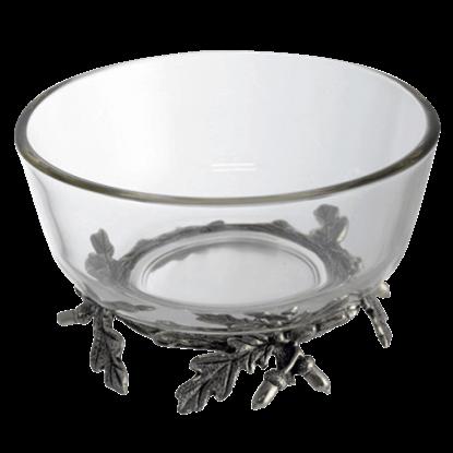 Acorn and Oak Leaf Dip Bowl