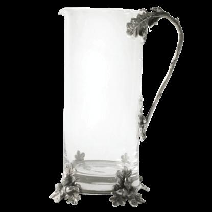 Acorn and Oak Leaf Glass Pitcher