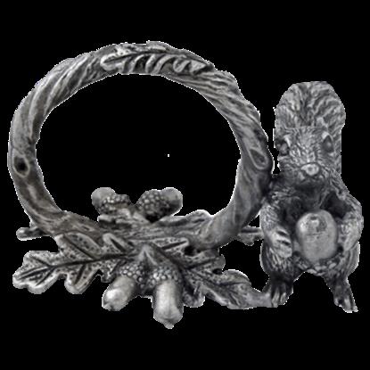 Pewter Squirrel Napkin Ring