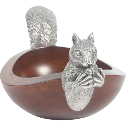 Large Squirrel Head and Tail Nut Bowl
