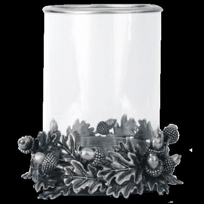Acorn and Oak Leaf Hurricane Candleholder