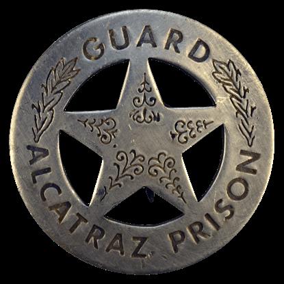 Alcatraz Prison Guard Badge