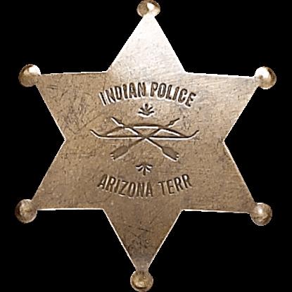 Arizona Indian Police Badge