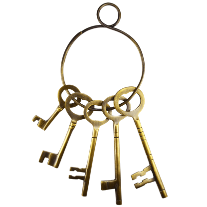 Antiqued Brass Jailers Keys