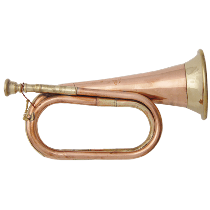 Polished Copper and Brass Bugle