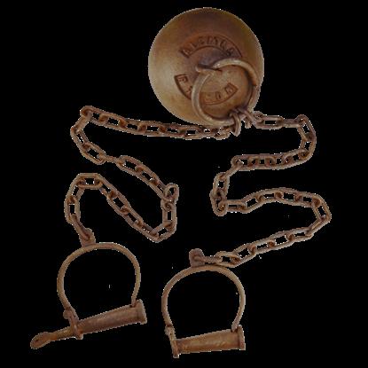 Alcatraz Prison Iron Ball and Chain