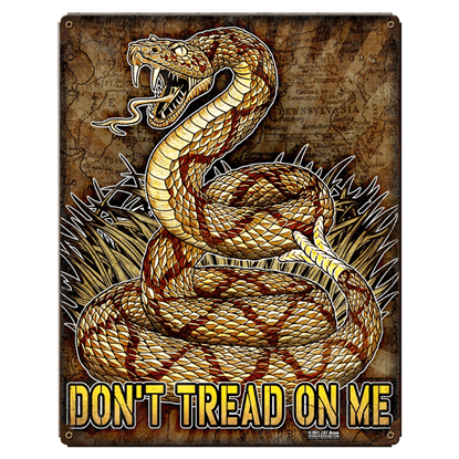 Don't Tread On Me Vintage Steel Sign