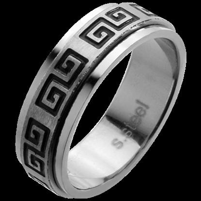 Greek Scroll Pattern Spinner Ring