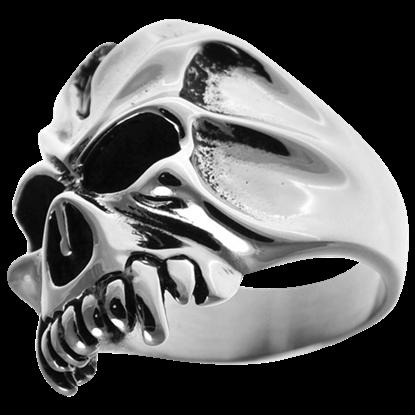 Cracked Vampire Skull Ring