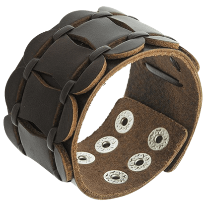 Medieval Spartan Leather Bracelet