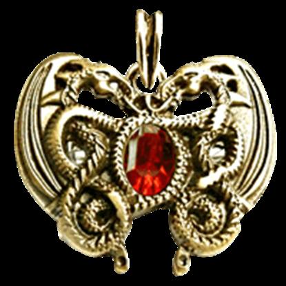 Dragon Heart Pendant - Gold Finish