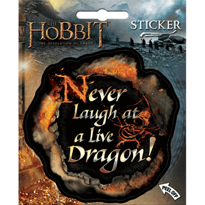 Never Laugh at a Live Dragon Sticker