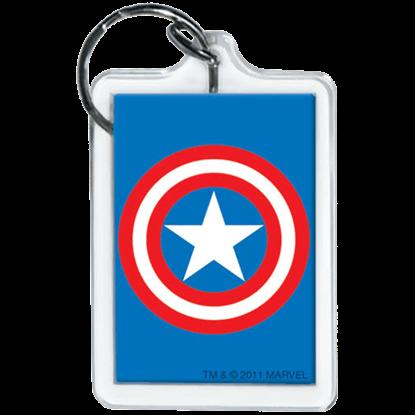 Captain America Emblem Keychain