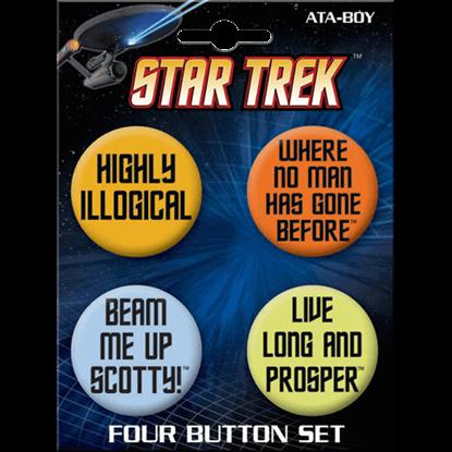Star Trek Legendary Quotes Button Set