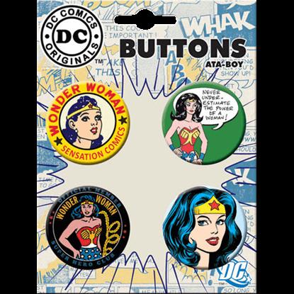 Classic Wonder Woman Button Set