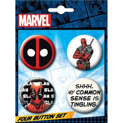 Deadpool Merc with a Mouth Button Set