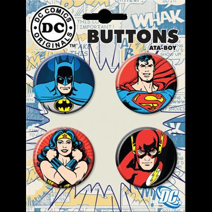 Classic Justice League Button Set