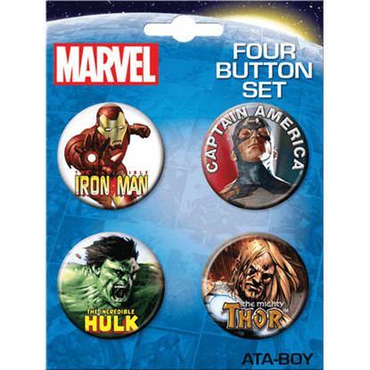 Classic Marvel Avengers Button Set