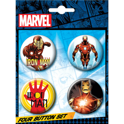 Invincible Iron Man Button Set