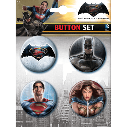 Dawn of Justice Superhero Button Set