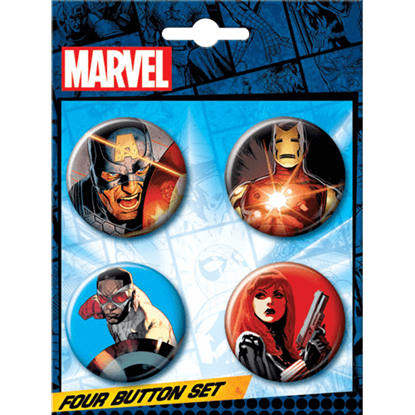 Marvel Avengers Legendary Heroes Button Set