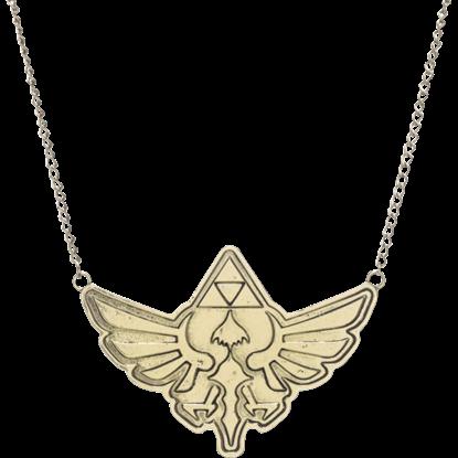 Antique Brass Zelda Necklace