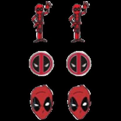Deadpool Earrings 3 Pack Set