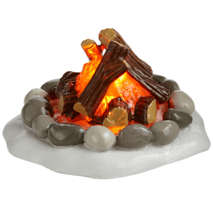 Lit Fire Pit - Accessory Buildings and Figurines by Department 56