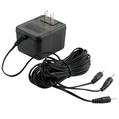 Black AC DC Adapter - Halloween Village Accessories by Department 56