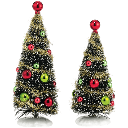 Glitzy Holiday Trees - Village Landscapes and Trees by Department 56