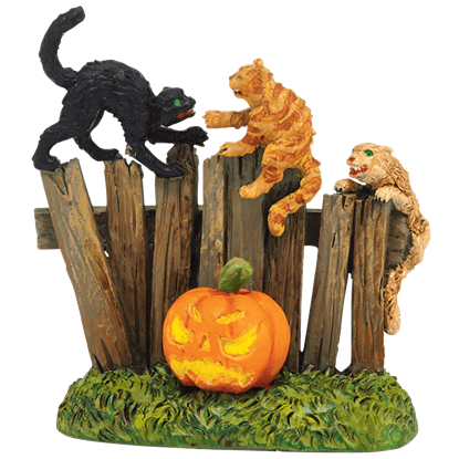 Creepy Creatures Cats - Halloween Village Accessories by Department 56