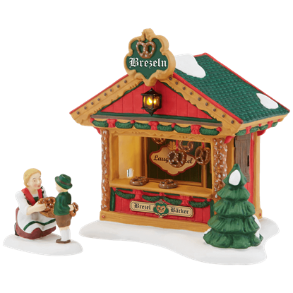 The Pretzel Booth - Alpine Village by Department 56
