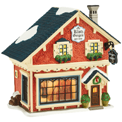 Violin Maker Building - Alpine Village by Department 56