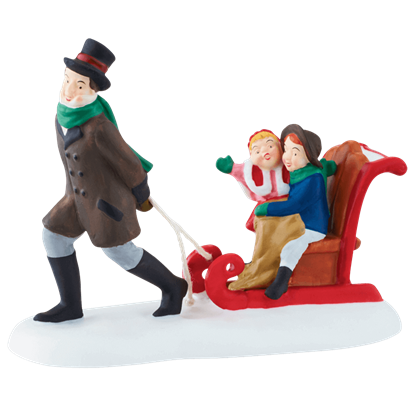 Sledding at the Fair - Dickens Village by Department 56