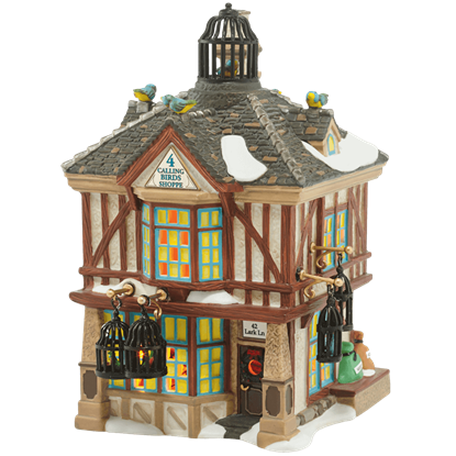 Four Calling Birds Shoppe - Dickens Village by Department 56