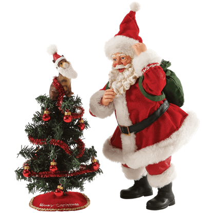 Tree Toppler - Santa Christmas Figurine by Possible Dreams
