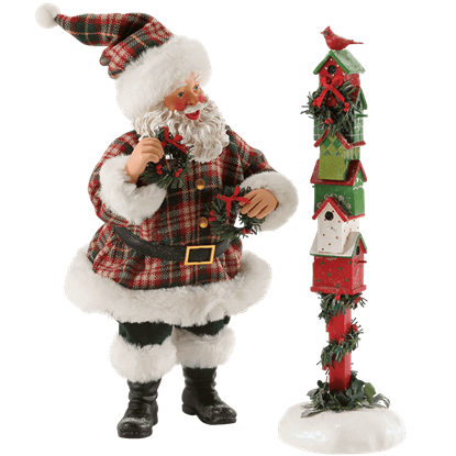 Fine Feathered Friends - Santa Christmas Figurine by Possible Dreams